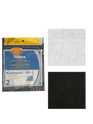 2 Pack Kenmore 86889 Ef 1 Exhaust Hepa Vacuum Filter